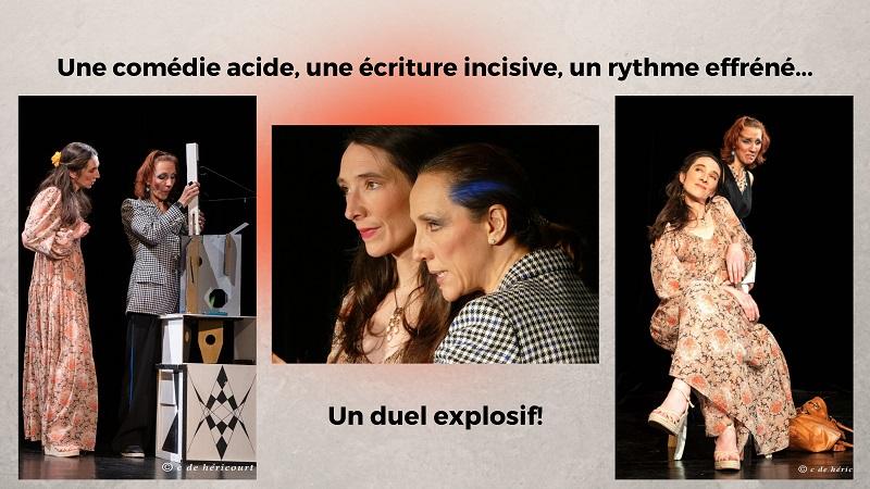 """3 photos du spectacle """"jeux de scène"""" de victor haïm"""
